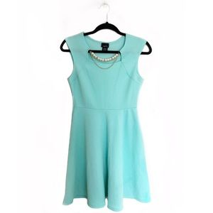 Rue 21 Pearl Necklace Skater Dress